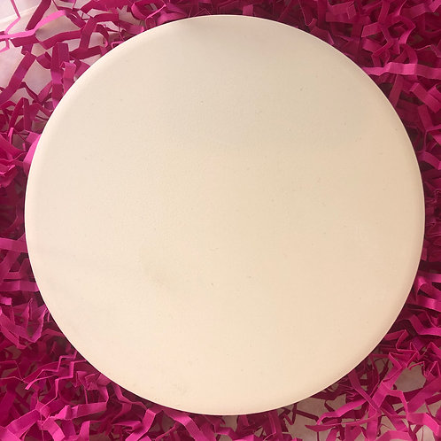 Paint your own ceramic round tile