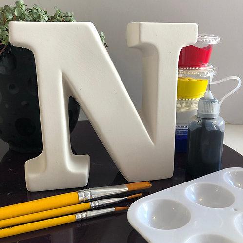 Paint your own Alphabet letter . Letter 'N'