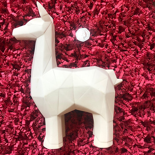 Paint your own  ceramic  Faceted LLama