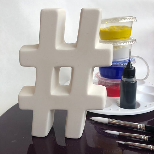 Paint your own  ceramic Number. Hashtag #
