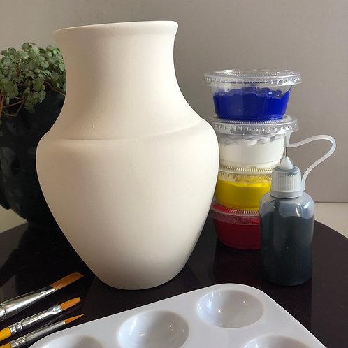 Paint your own Vase box ceramic - Shape 1
