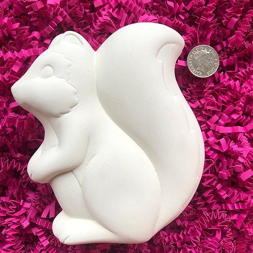 Paint your own ceramic squirrel box