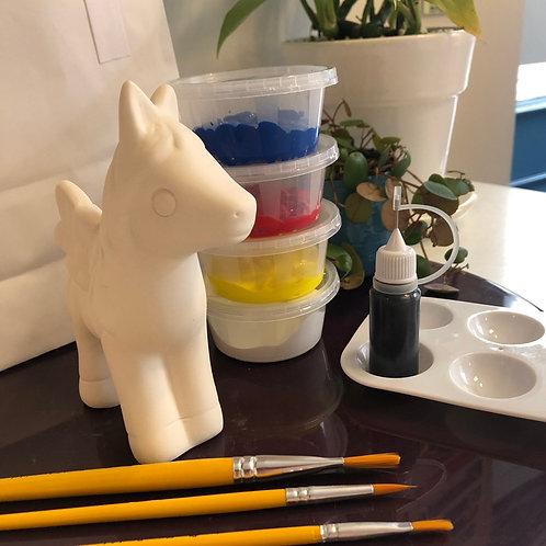 Paint your own ceramic pegasus
