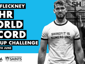 Jack Fleckney to take on WR Chin-up Challenege in support of Northampton Saints Foundation