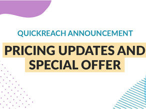 New QuickReach Standard License pricing
