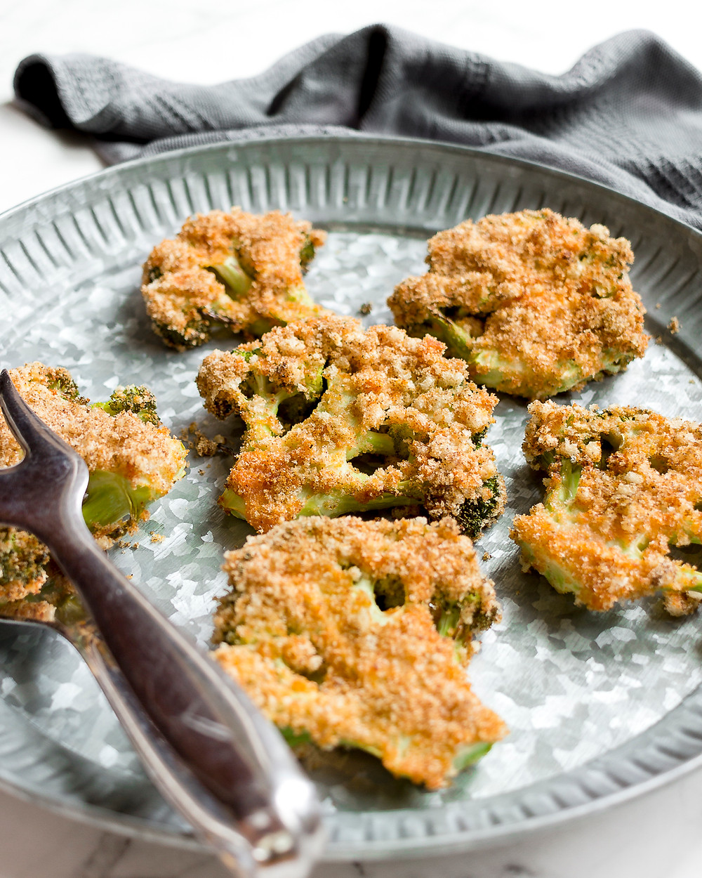 Pizza Crusted Broccoli Steaks
