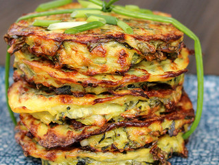 ZUCCHINI AND KALE BAKED FRITTERS