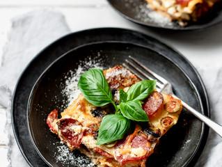 Pepperoni Pizza Lasagne