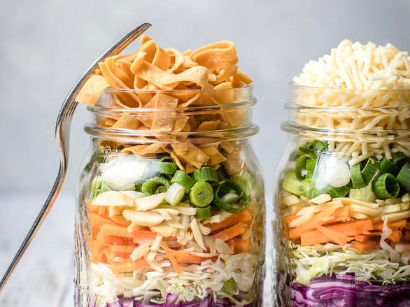 Crispy Noodle Salad in a Jar with Quinoa