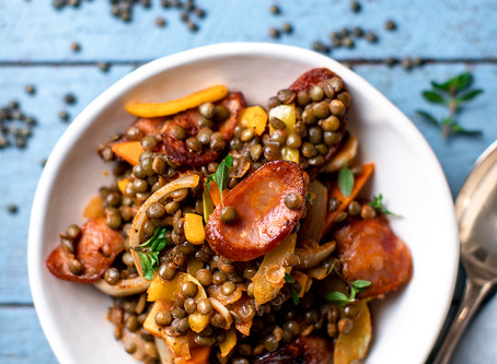 French Green Lentils with Chorizo