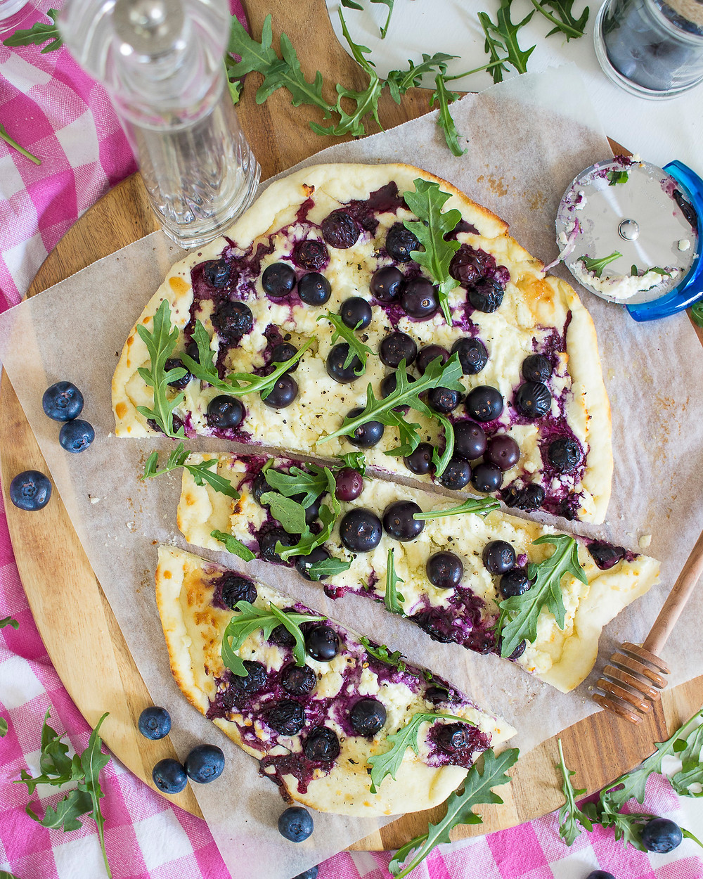 Blueberry and Ricotta Pizza