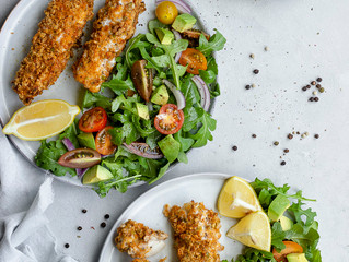 Fish Fingers Coated in Salsa Crumbs