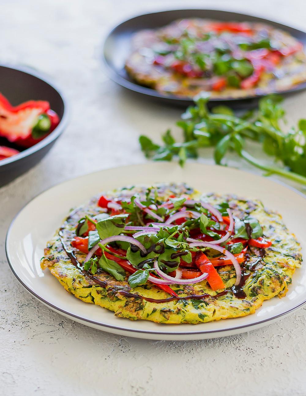 Silverbeet Pancake Omelette