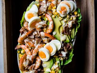 BBQ Prawn Caesar Salad