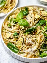 Basil and Zucchini Pesto Pasta