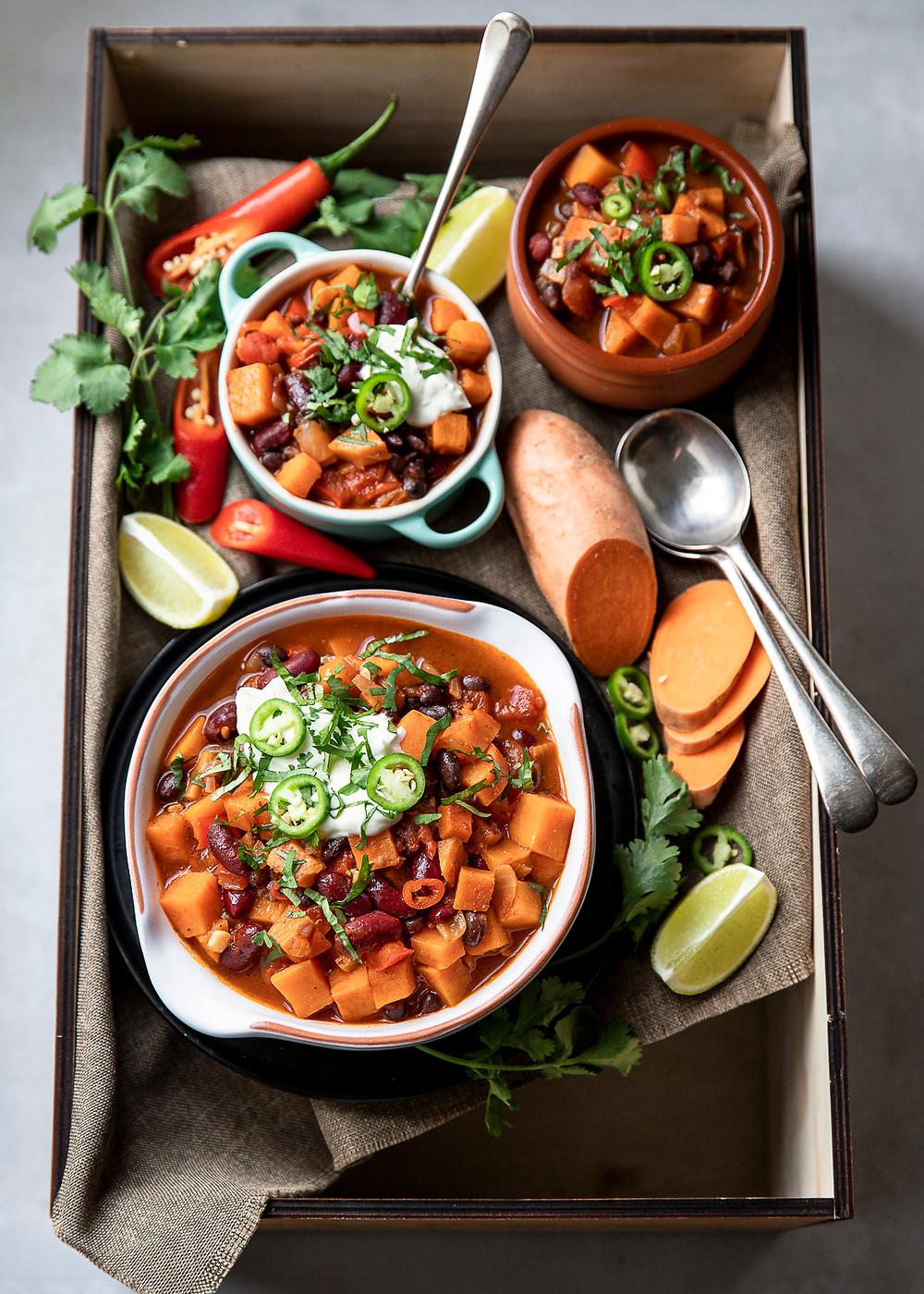 Sweet Potato and Bean Chilli