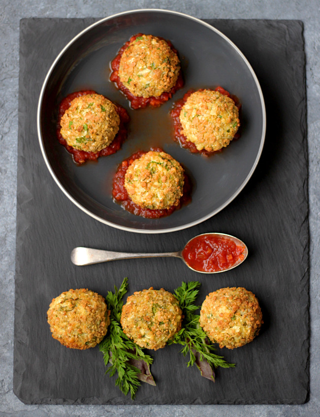 Cauliflower Arancini Balls