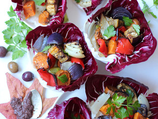 RADICCHIO WRAPS WITH MEDITERRANEAN VEGETABLES