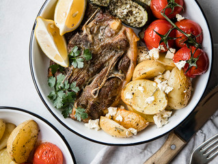 Roasted Lamb Chops with Blistered Tomatoes