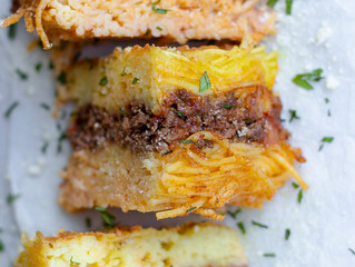 Three Cheese Spaghetti Bolognese Bake