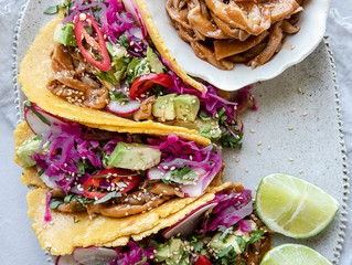 Sweet and Spicy Korean Mushroom Taco with Pickled Slaw