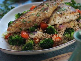 SNAPPER WITH BLOOD ORANGE QUINOA