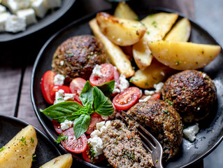 The Best Baked Meatballs with Potatoes