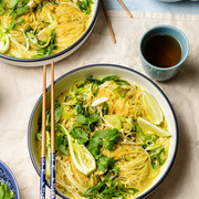 Noodle Soup with Coconut, Ginger and Turmeric