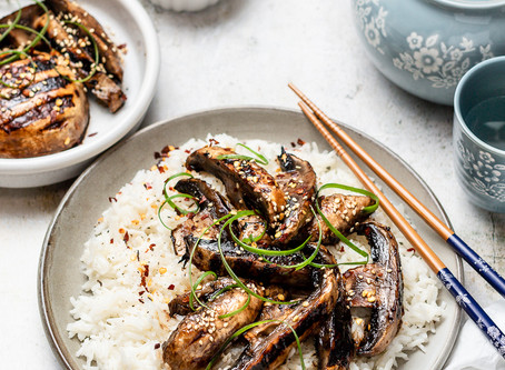 Portobello Mushroom Steaks in Hoisin Sauce
