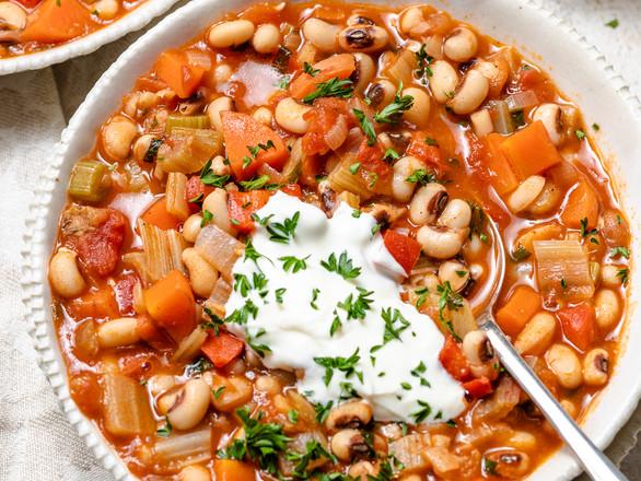 Spiced Black Eyed Bean Soup