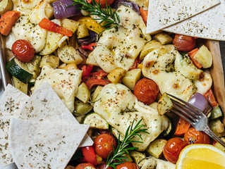 Halloumi and Vegetable Bake
