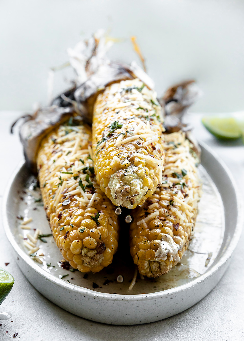 Spicy Butter Barbecued Corn