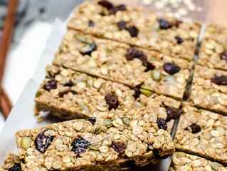 No Bake Nut free Spice Muesli Bars