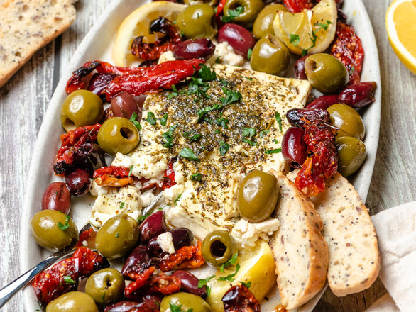 Baked Feta with Olives