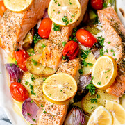 Salmon with Summer Vegetables