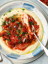 Greek Baked Fish with Cauli Mash