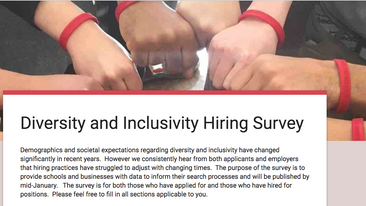 Diversity Hiring Survey for Candidates and Employers
