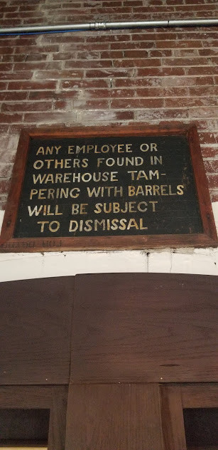 Clever historic signage at Buffalo Trace Distillery.