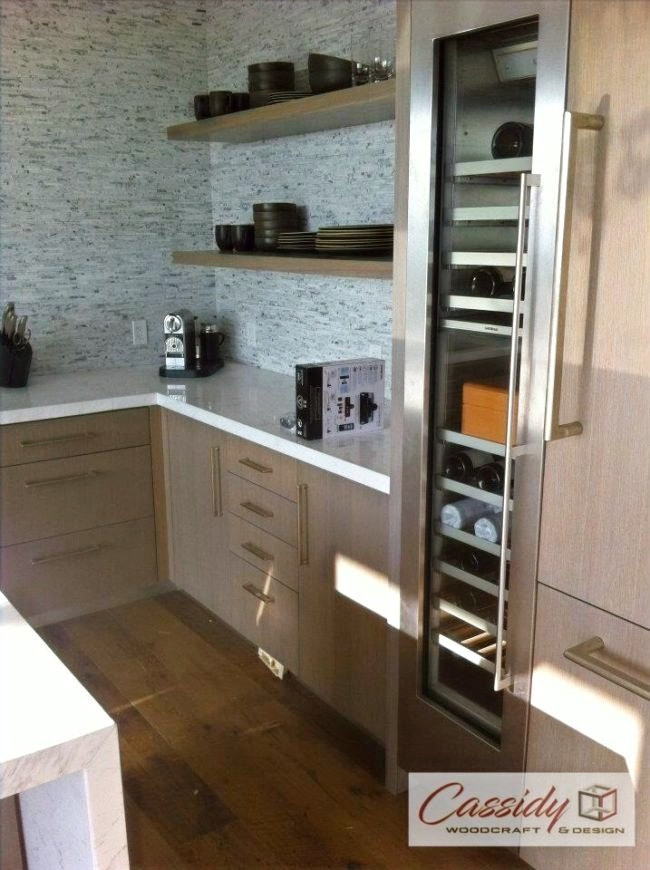 Grey Slab Rift White Oak Kitchen