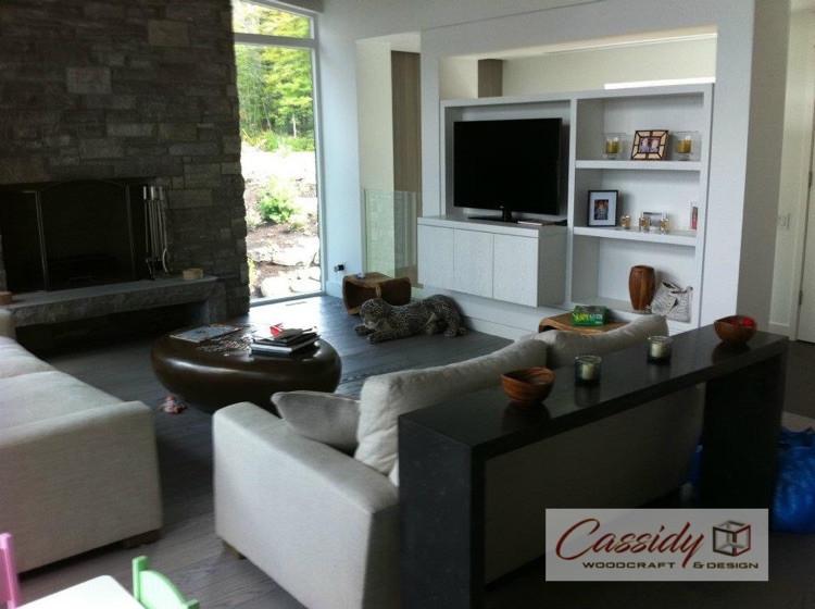 Painted Rift White Oak TV Unit