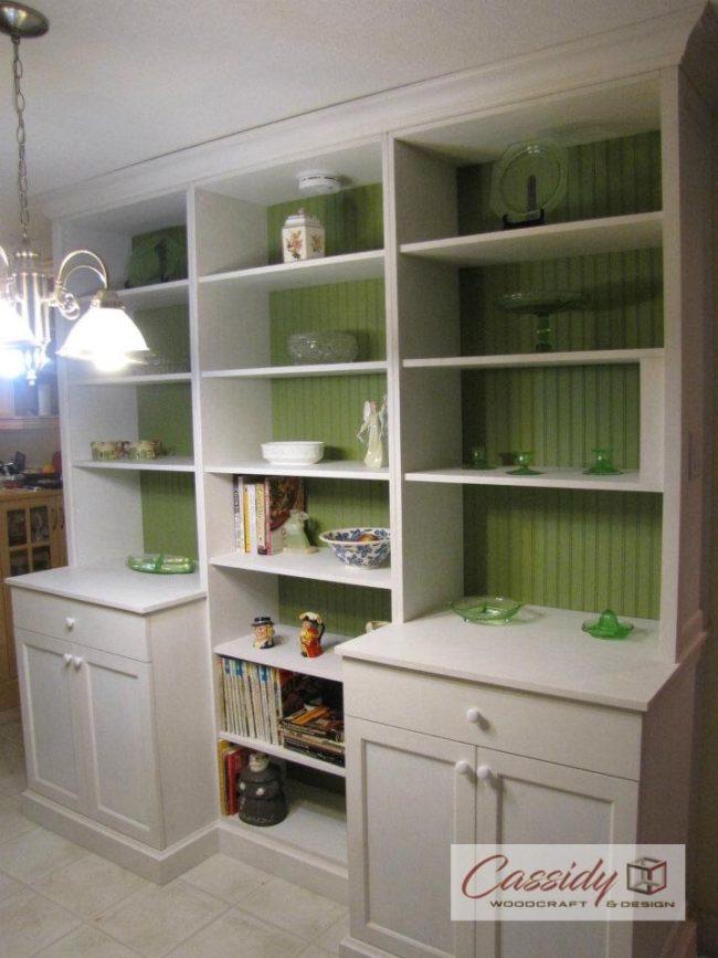 Green + White Milk Paint Built In