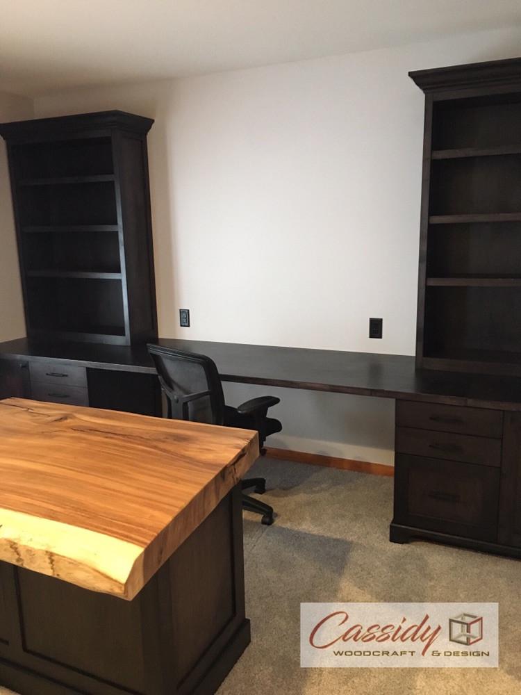 Custom Shaker Office In Blackened Maple
