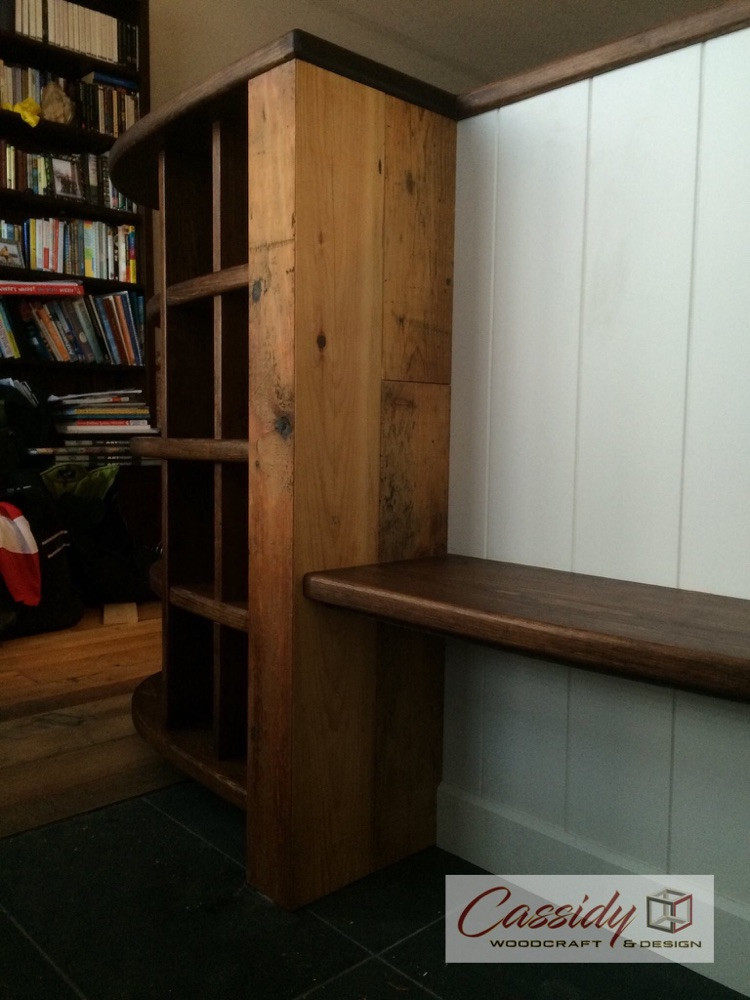 Custom Entry Bench And Cubbies