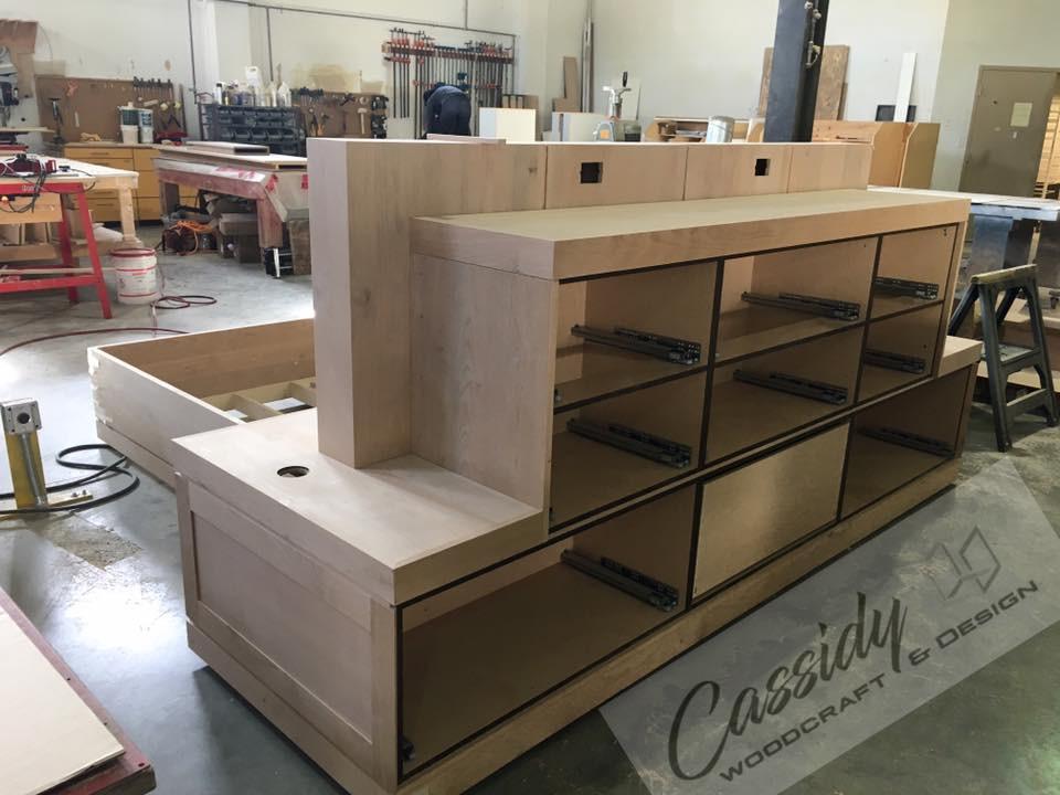 Alder Bed With Integrated Dresser | Side Tables