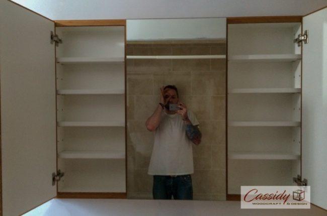 "Custom ""Floating"" Bamboo Vanity And Bathroom Set"