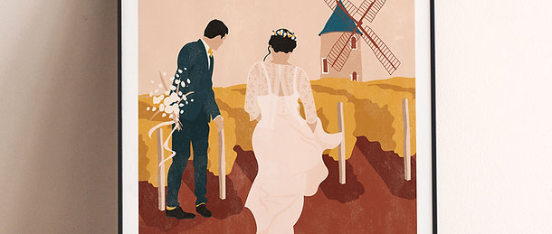 Affiche Mariage 50x70cm