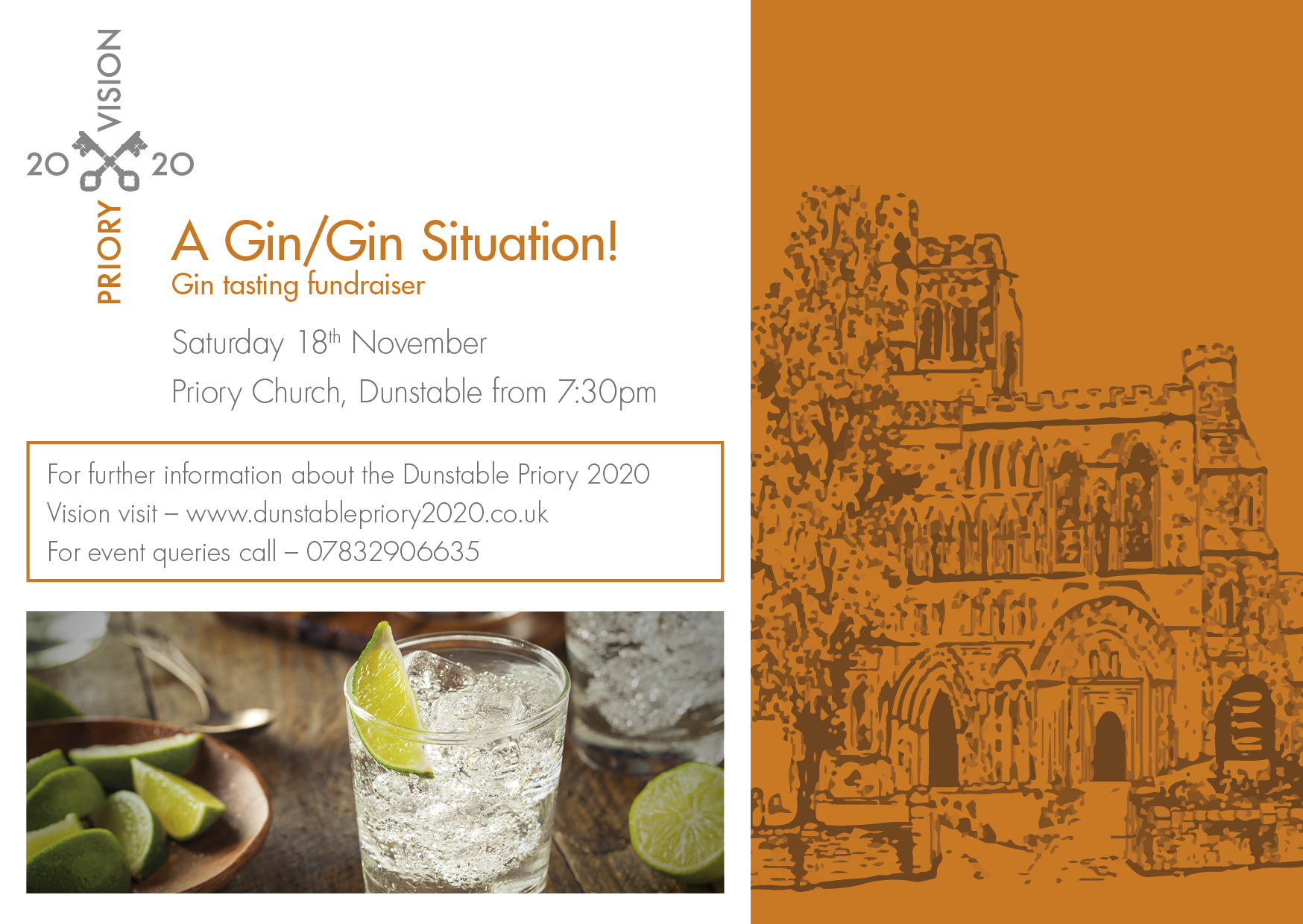Priory share 2020 Gin night invite