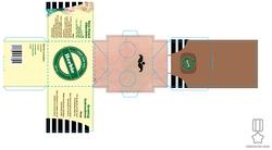 Flat packaging net