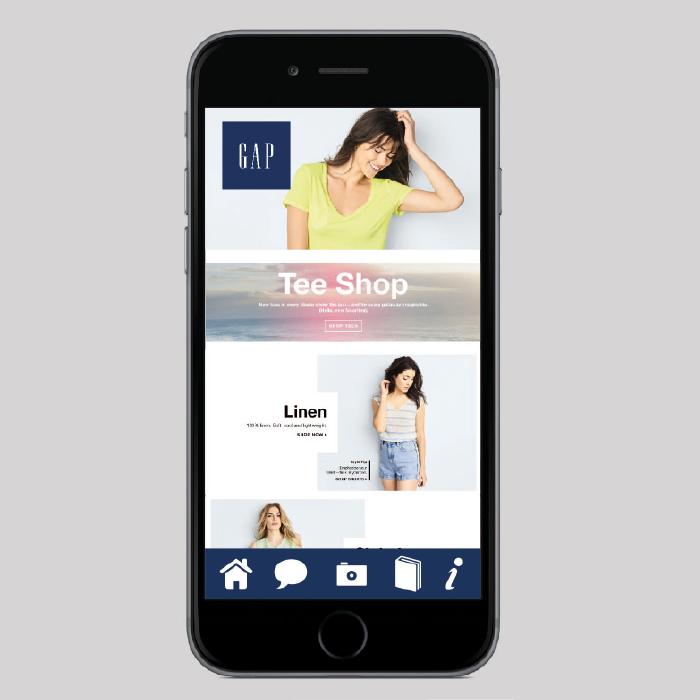 GAP Mobile site