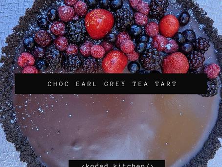 Chocolate Earl Grey Tea Tart
